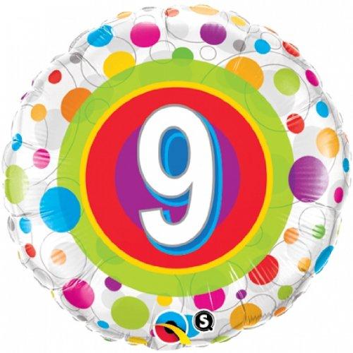 Folienballon Colourful Dots 9