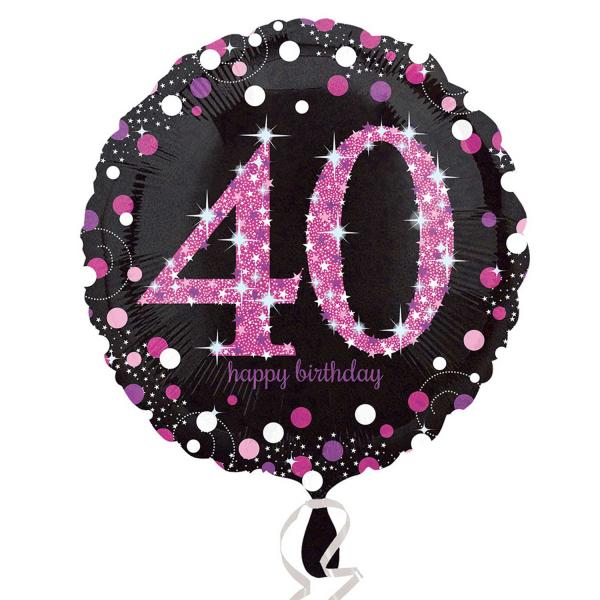 Folienballon Pink Celebration 40