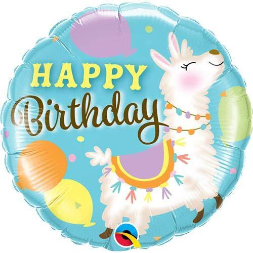 Folienballon Birthday Lama - 61379