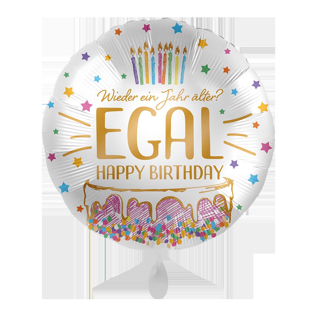 Folienballon Wieder ein Jahr älter? EGAL