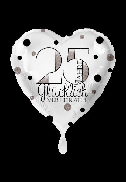 Folienballon 25 Jahre glücklich verheiratet
