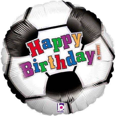 Folienballon Fußball Happy Birthday