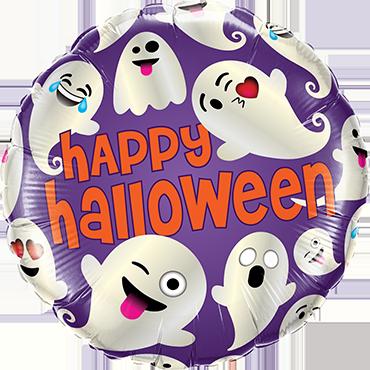 Folienballon Standard Emoticon  Happy Halloween