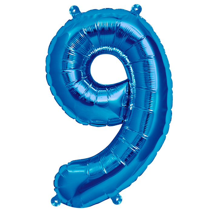 Zahlenballon Blau XL - 9
