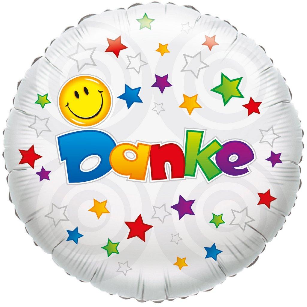 Folienballon Danke Smile