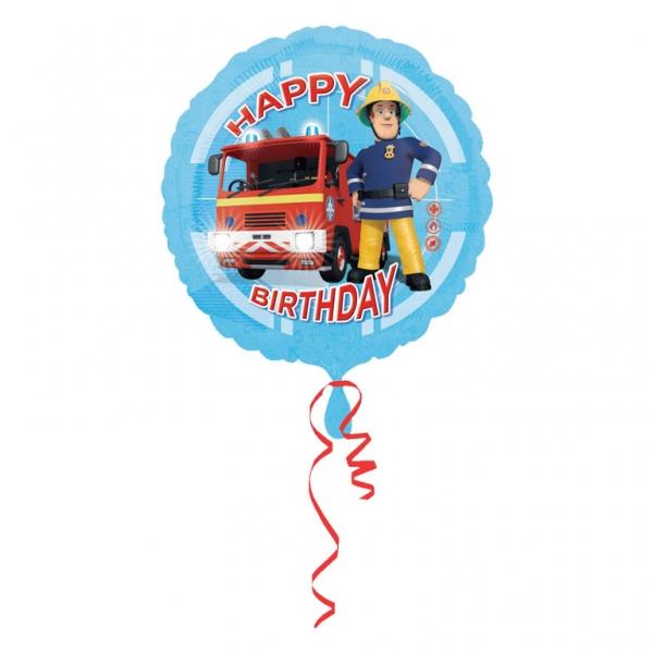 Folienballon Fireman Sam Happy Birthday
