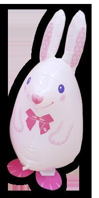 Walking Balloon Kaninchen weiß - 58126