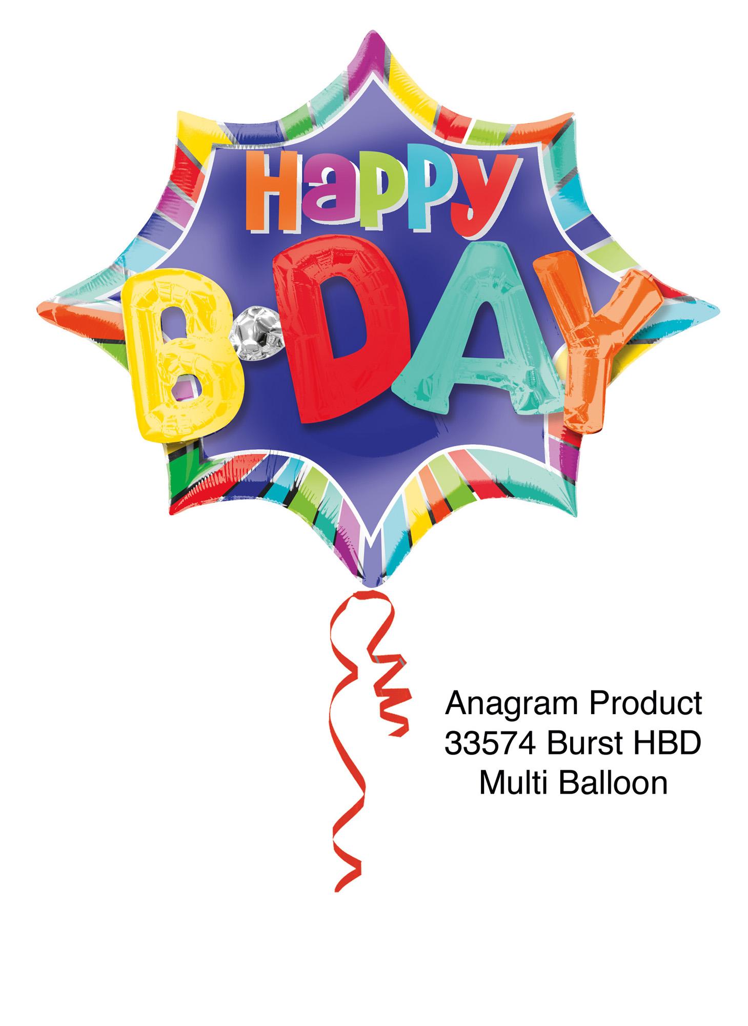 Folienballon Multi-Balloon Happy B-Day - 60086