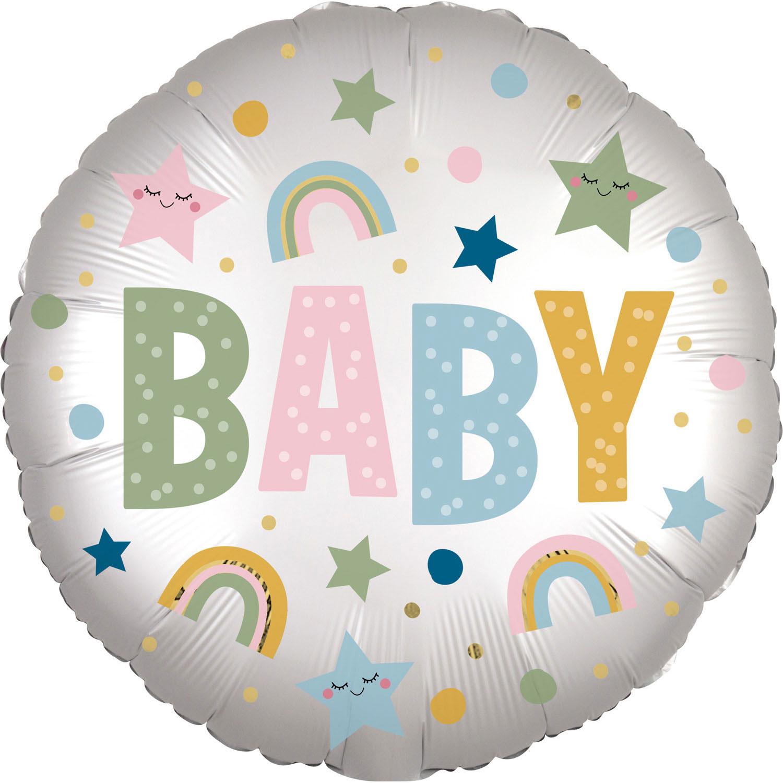 Folienballon Satin Infused Natural Baby