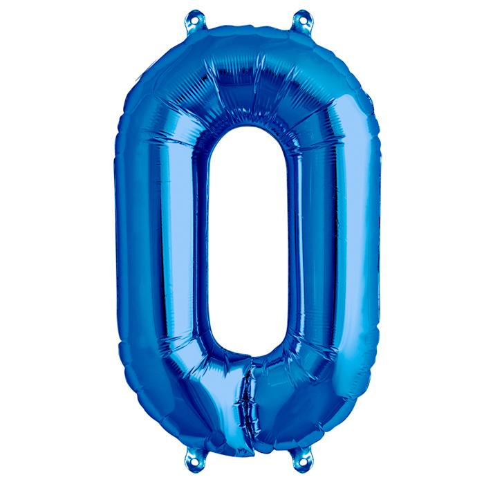 Zahlenballon Blau  S - 0