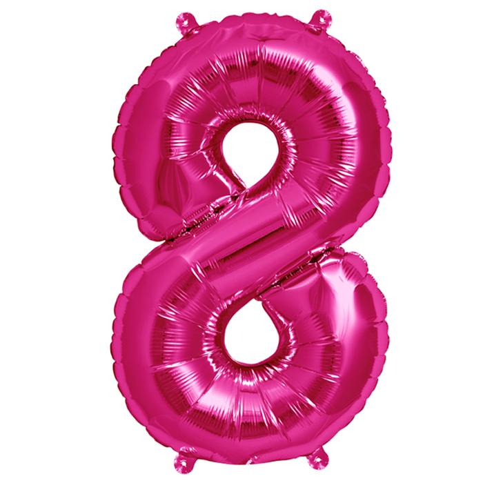Zahlenballon Magenta XL - 8