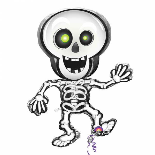 Figurenfolienballon Dancing Skeleton