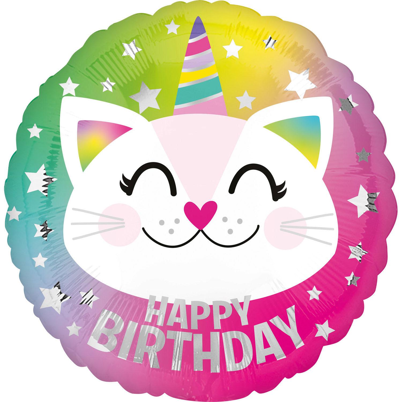 Folienballon Geburtstag Caticorn