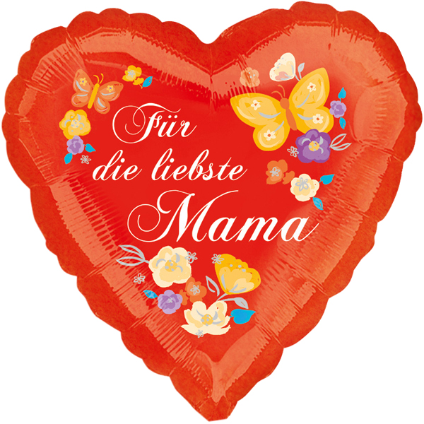 Folienballon Für die liebste Mama