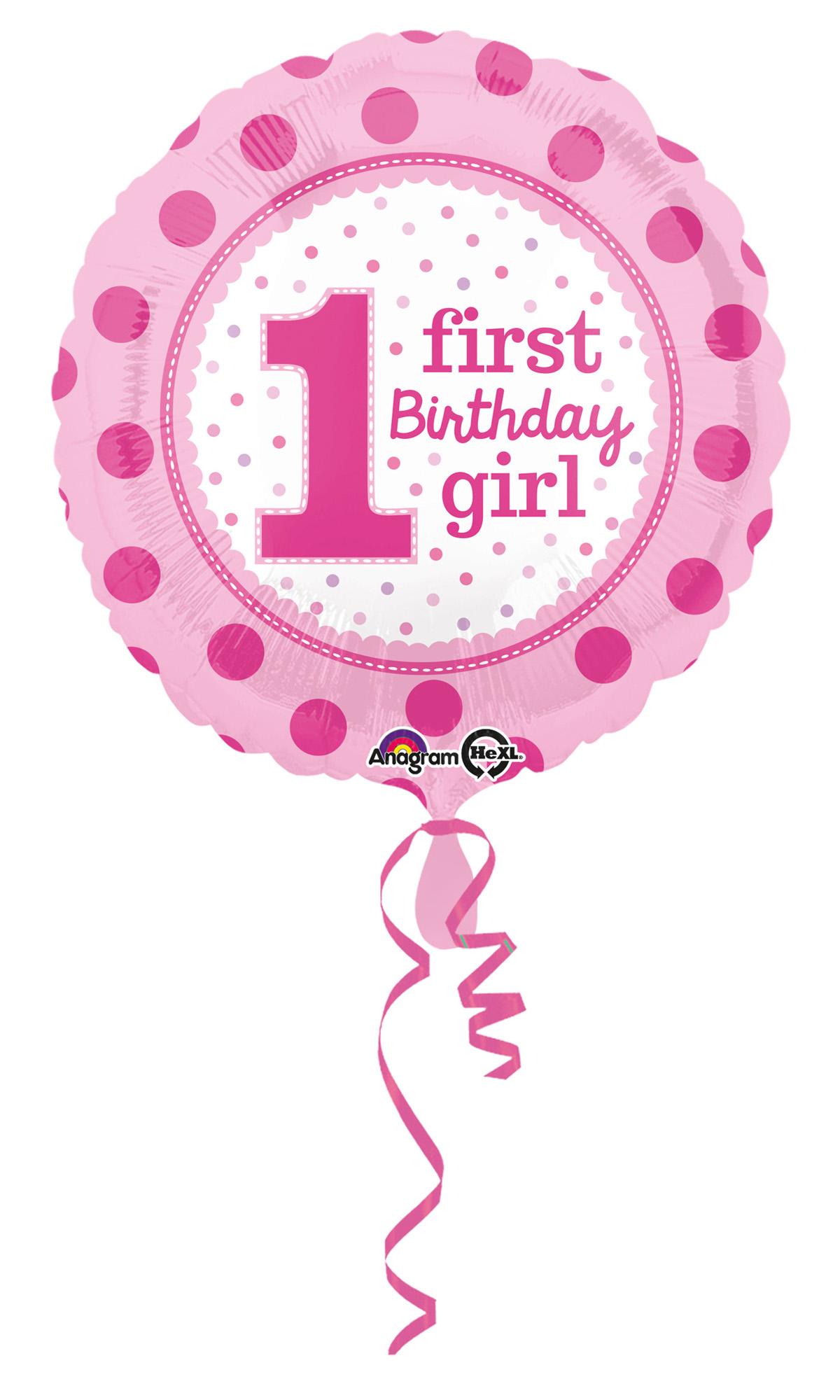 Folienballon Birthday Girl 1