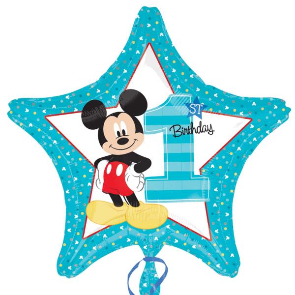 Folienballon Mickey 1st Birthday