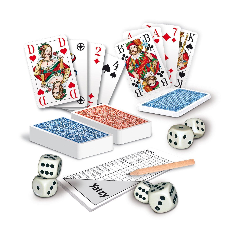 Spieleset Spielkarten Rommé Skat Yatzy Senioren