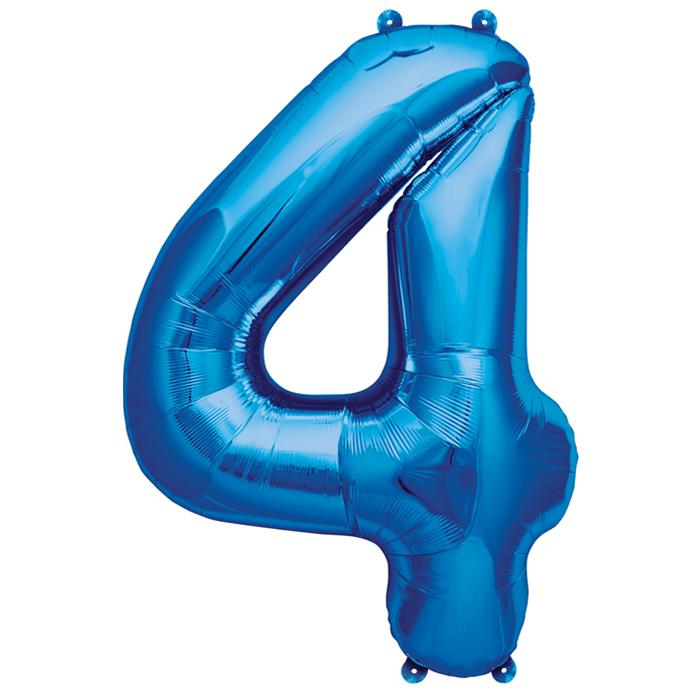 Zahlenballon Blau S - 4