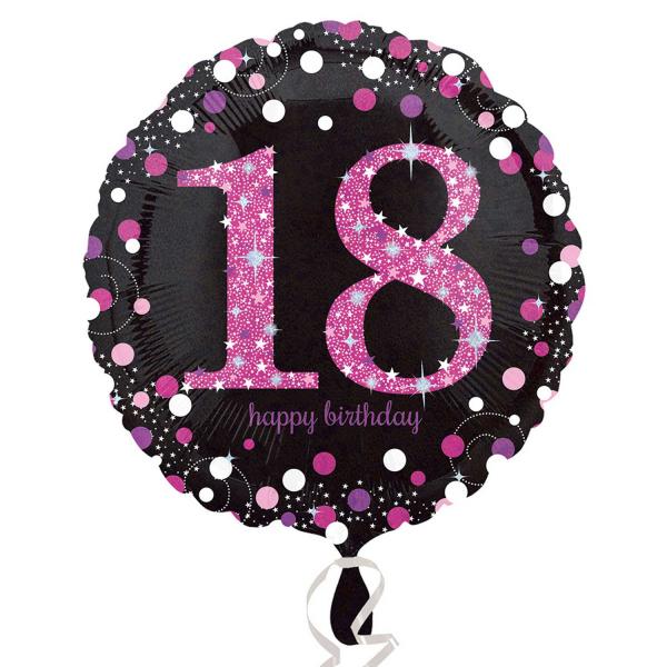 Folienballon Pink Celebration 18