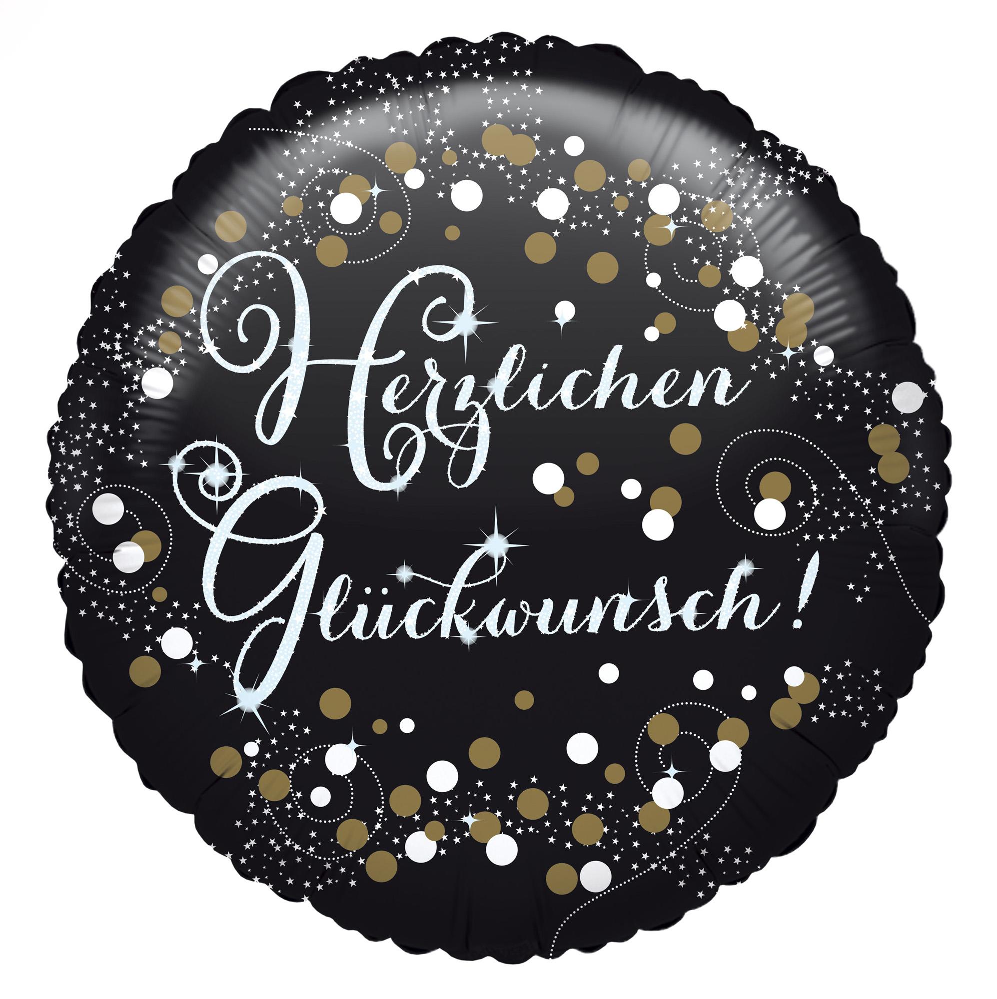 Folienballon Standard Herzlichen Glückwunsch Sparkling Birthday