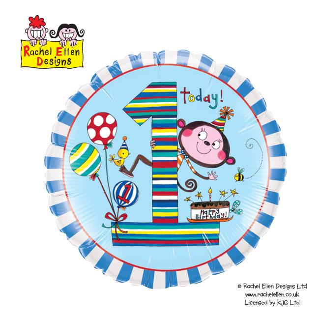 Folienballon Rachel-Ellen 1 Monkey Stripes - 55817