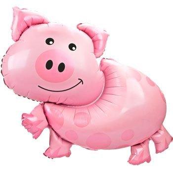 Folienballon SuperShape Schwein