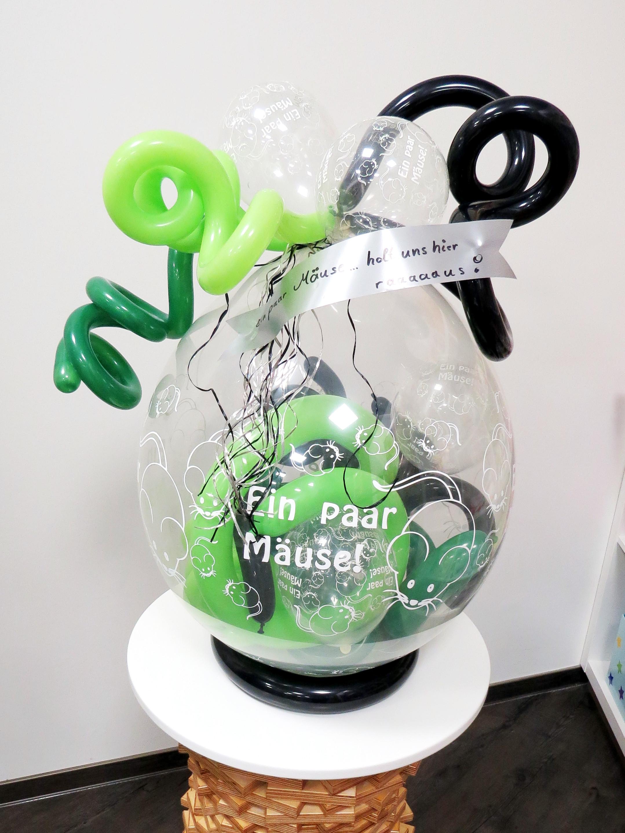 """Verpackungsballon """"Ein paar Mäuse"""""""