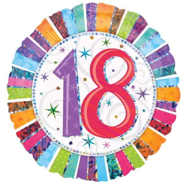 Folienballon Radiant Birthday 18