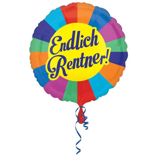 Folienballon Standard Endlich Rentner