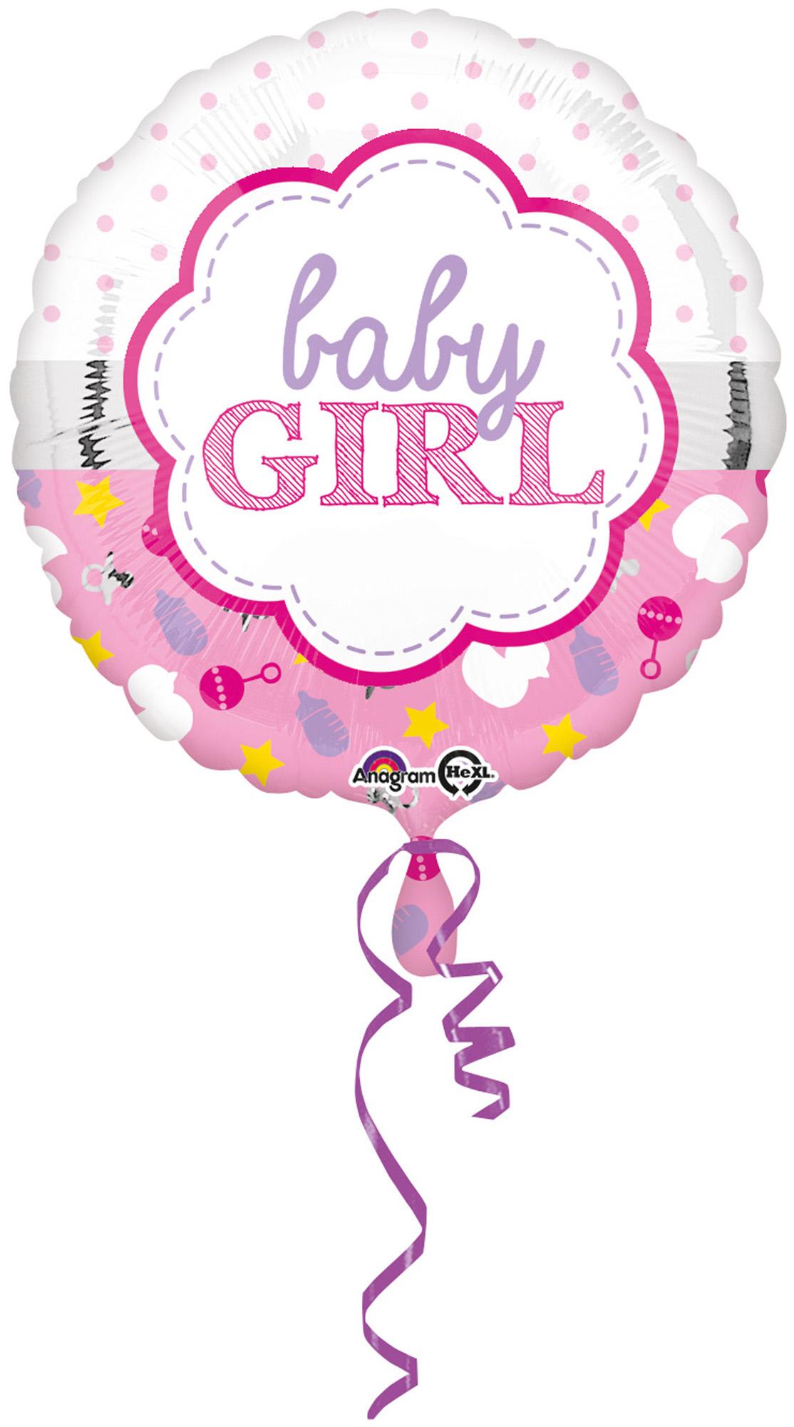 Folienballon Standard Baby Girl Muschel