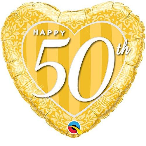 Folienballon Happy 50th gold