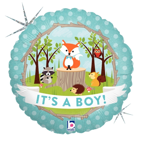 Folienballon Woodland Baby Boy