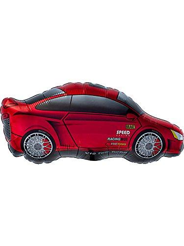 Folienfiguren Sportwagen rot 14in/35cm