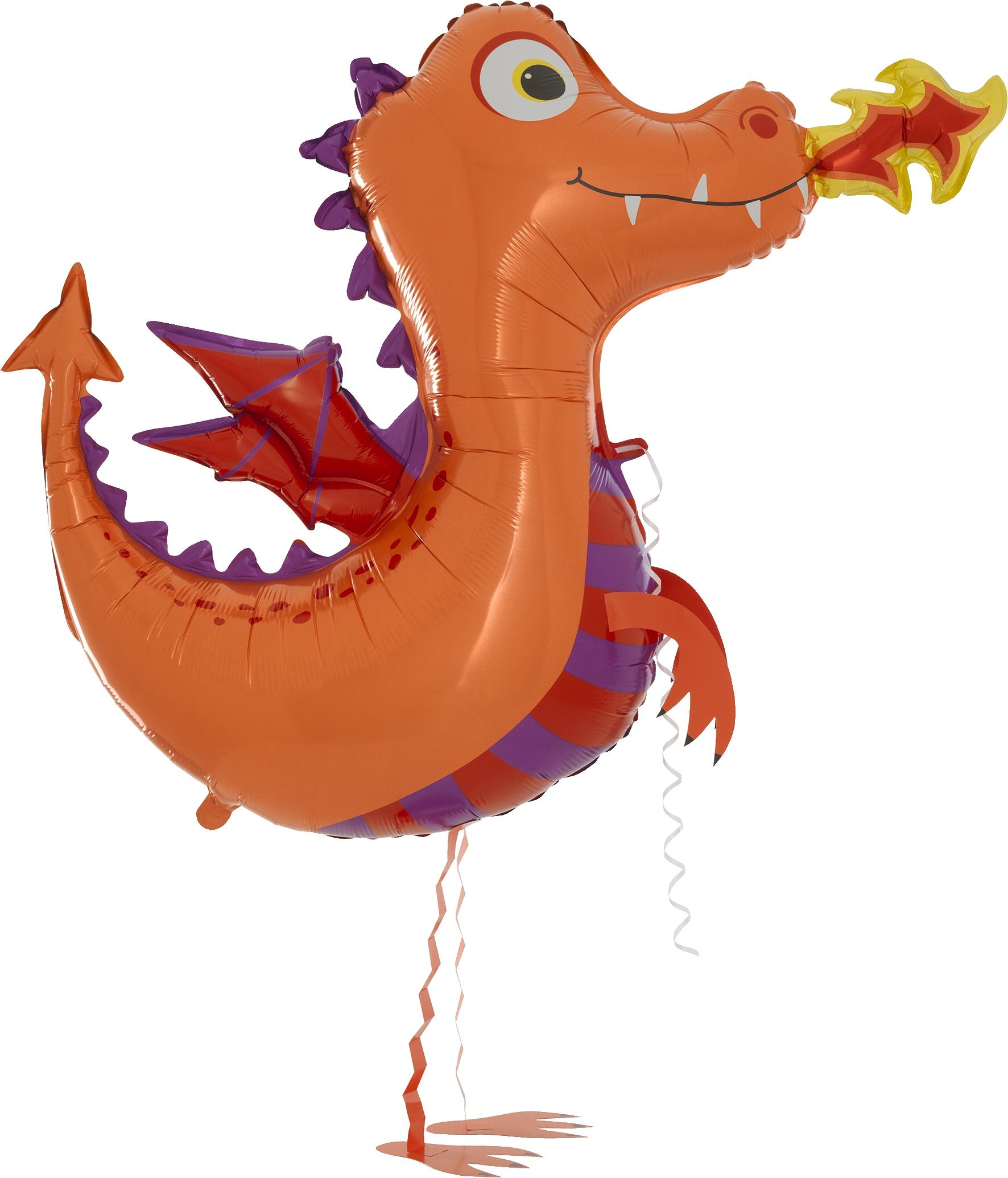 Walking Balloon Dragon orange - 63076