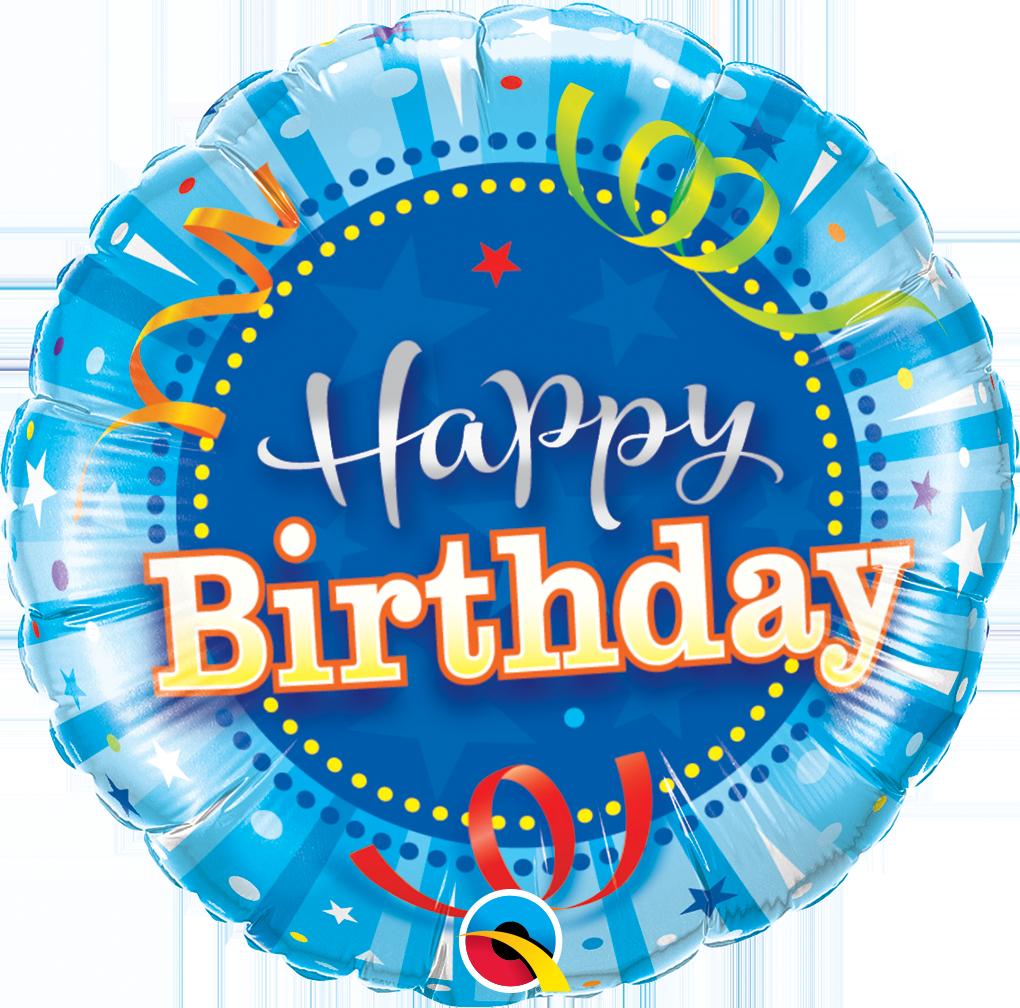 Folienballon Happy Birthday Bright Blue