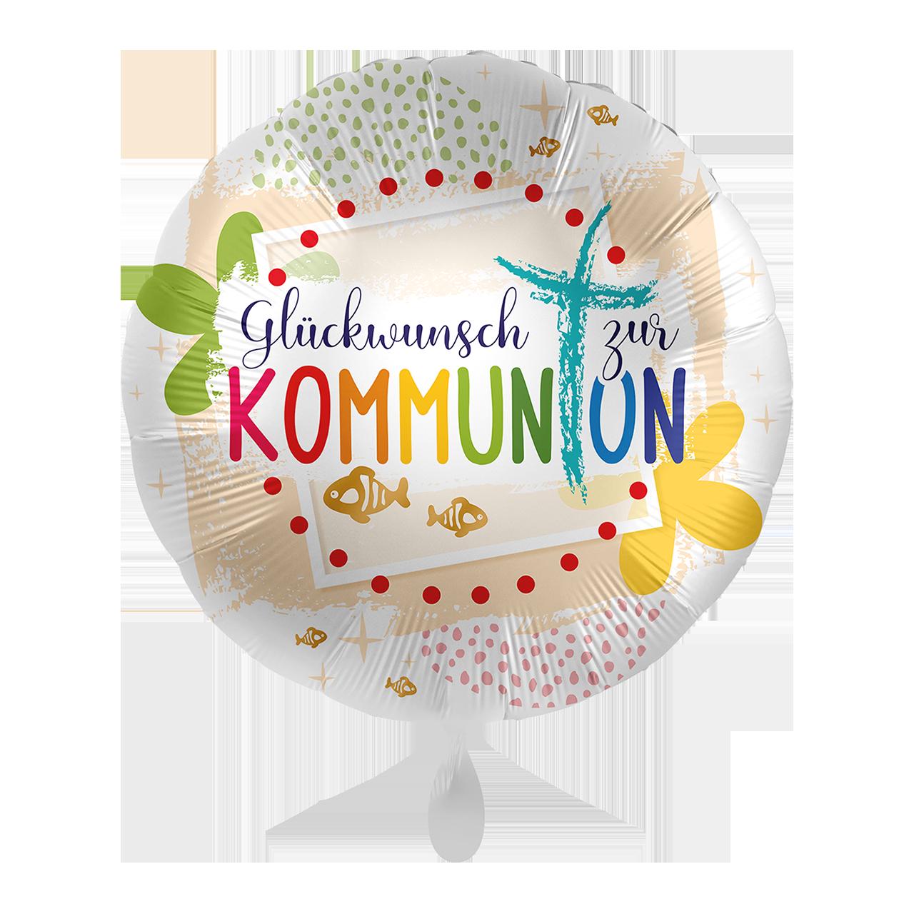 Folienballon Kommunion Glückwunsch - 65293