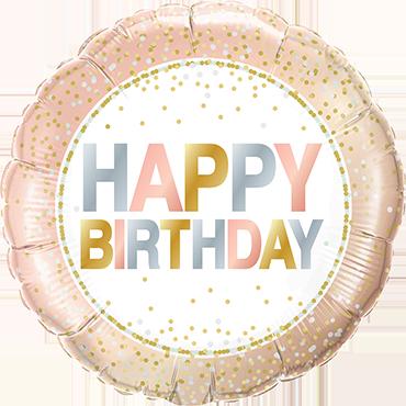 Folienballon Birthday Metallic Dots - 63067
