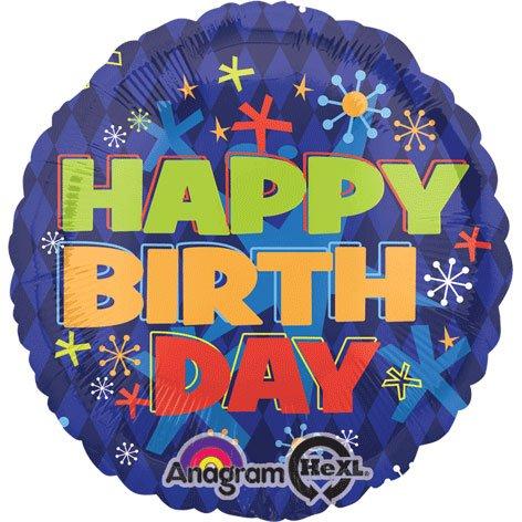 Folienballon Standard Bold Happy Birthday