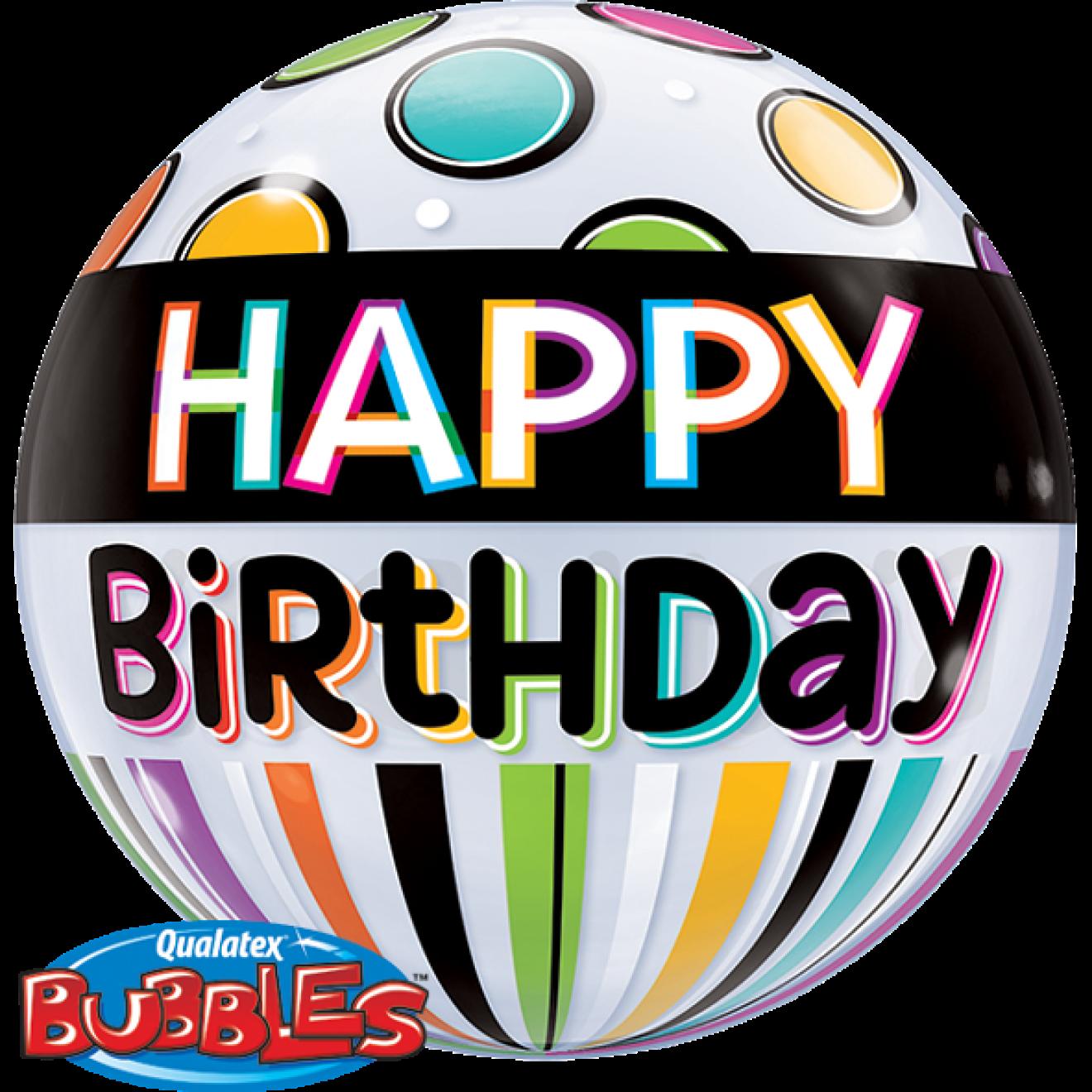 Bubble  Birthday Black Band und Dots - 59361