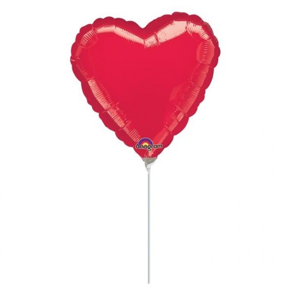 Folienballon Rotes Herz klein 9inch