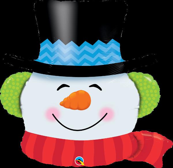 Folienballon Smilin Snowman