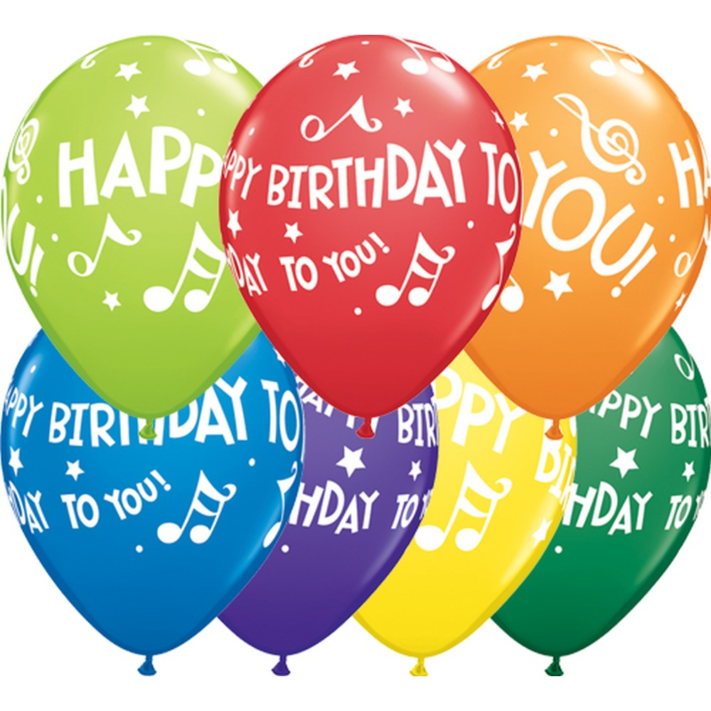Happy Birthday to You Music Notes 11inch - 1 Stück