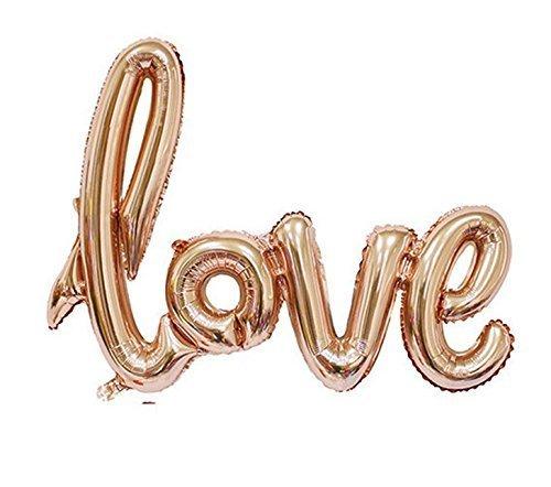 Folienballon Love Schriftzug Rose Gold