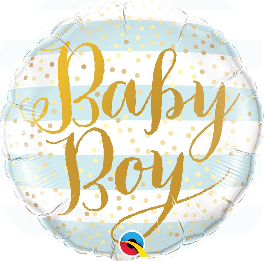 Folienballon Baby Boy Blue Stripes - 64845