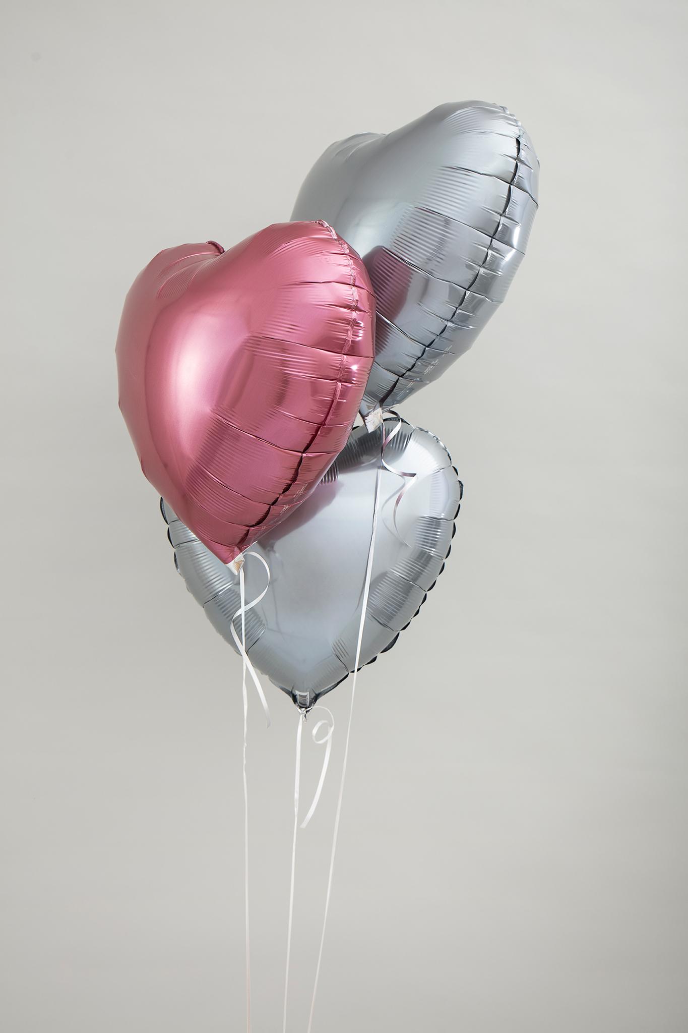 Bouquet aus 3 x einfarbigen Folienballons