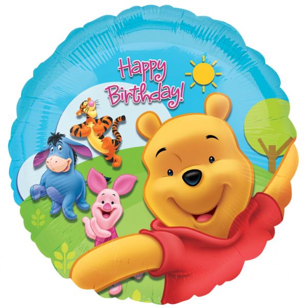 Folienballon Winnie the Pooh Happy Birthday