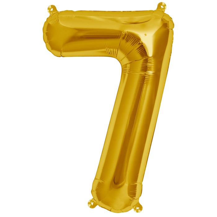 Zahlenballon Gold  XL - 7