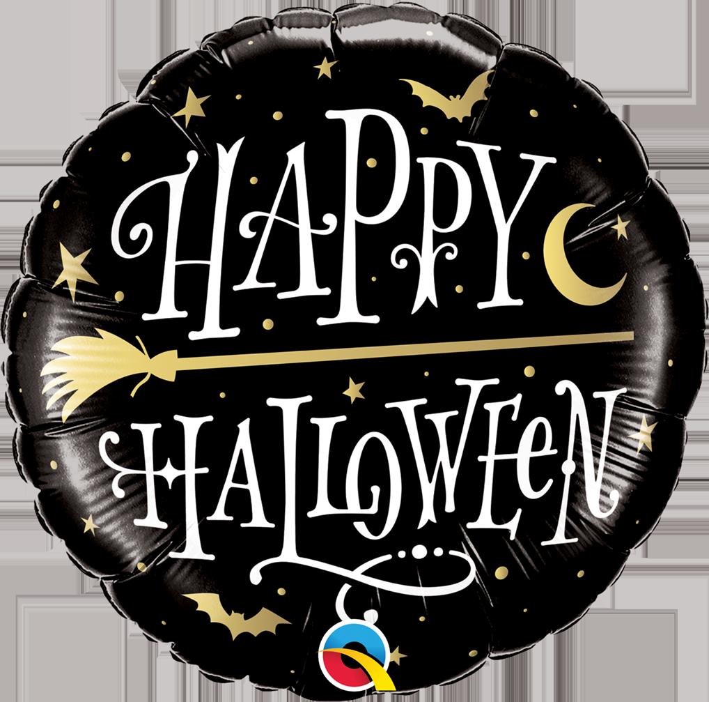 Folienballon Halloween Golden Broomstick