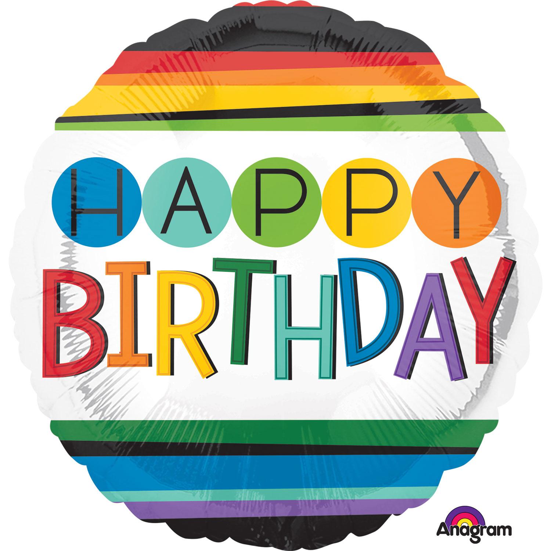 Folienballon Rainbow Birthday