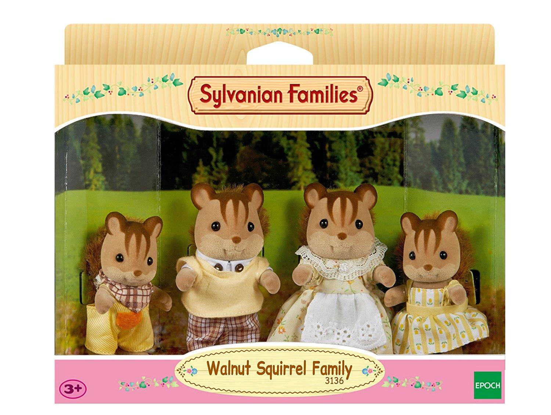 Walnuss Eichhörnchen Familie Knacks